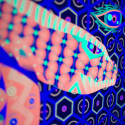 Jungle Snake Psychedelic Fluorescent UV-reactive Textile Backdrop
