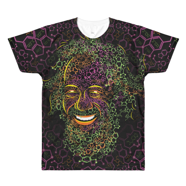 Alexander Shulgin Psychedelic All-Over-Print T-shirt Front