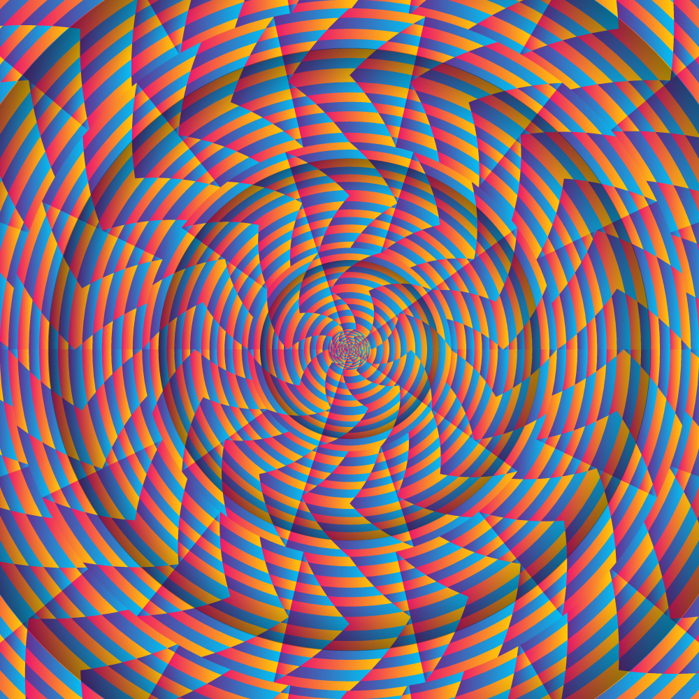Trippy Spiral - Spring Backdrops Showcase - Fluorescent UV-reactive Deco