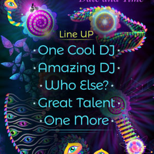 Psychedelic Psilocybin Trance Party Flyer