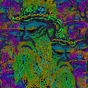 Leo Tolstoy's Grave Psychedelic Fluorescent Backdrop