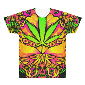 Marijuana Love Psychedelic All-Over-Print T-shirt Front