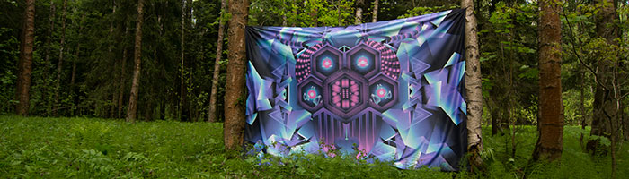 Deep Purple Backdrop Photo in the Forest
