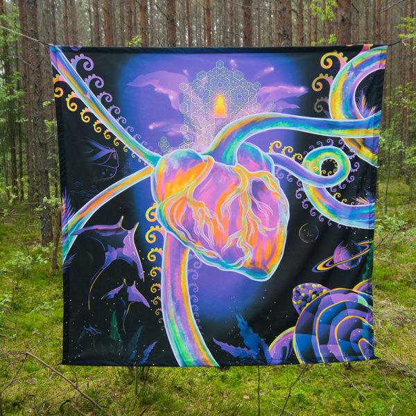 Psychedelic Evolution Backdrop