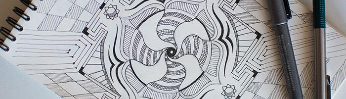 Muladhara Yantra Sketch by Andrei Verner