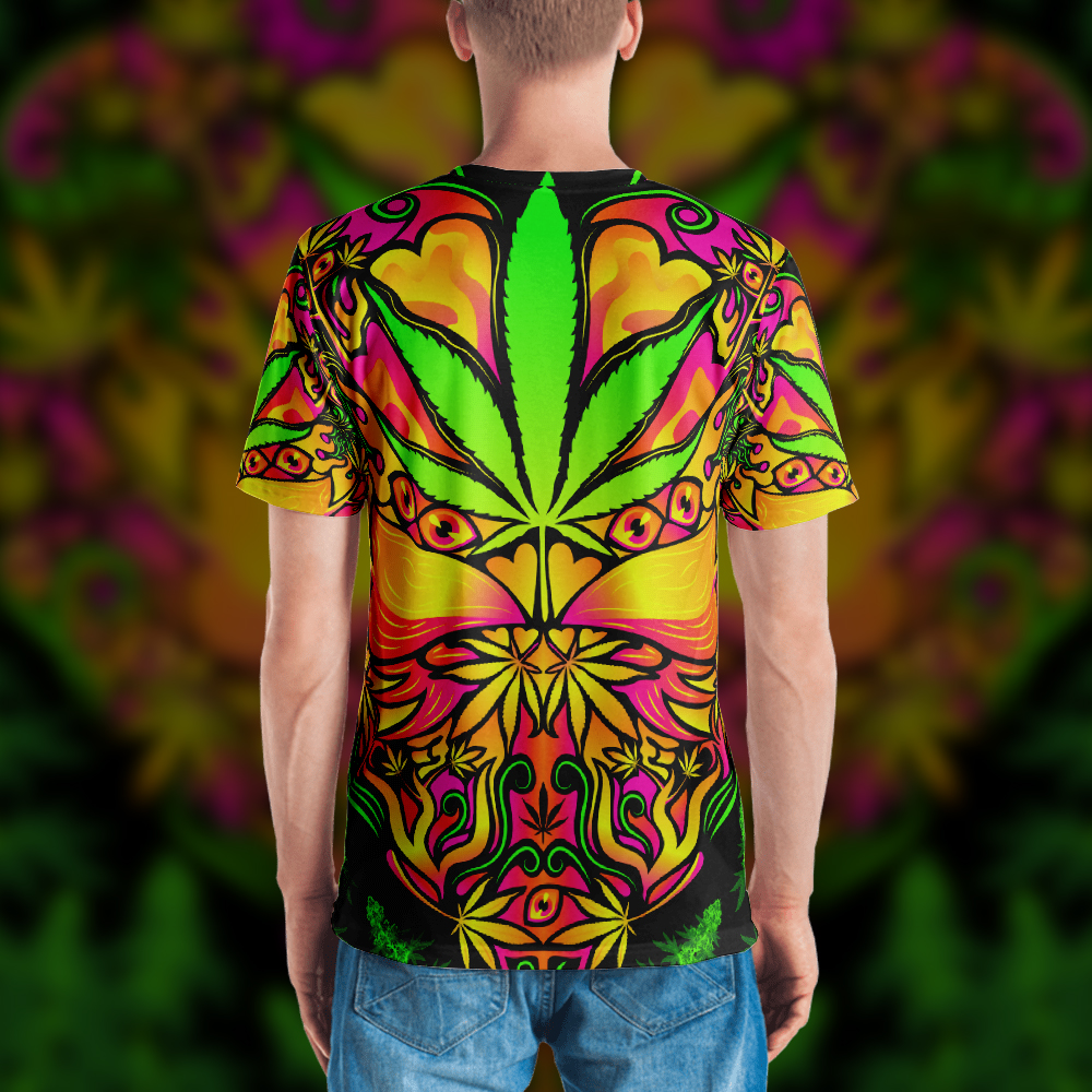 Cannabis Love Psychedelic T-shirt Design