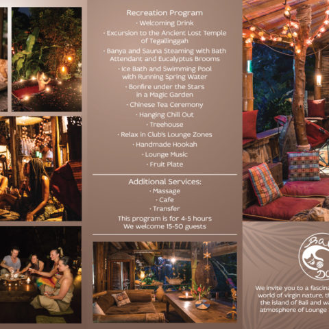 Bali Dacha Leaflet Front