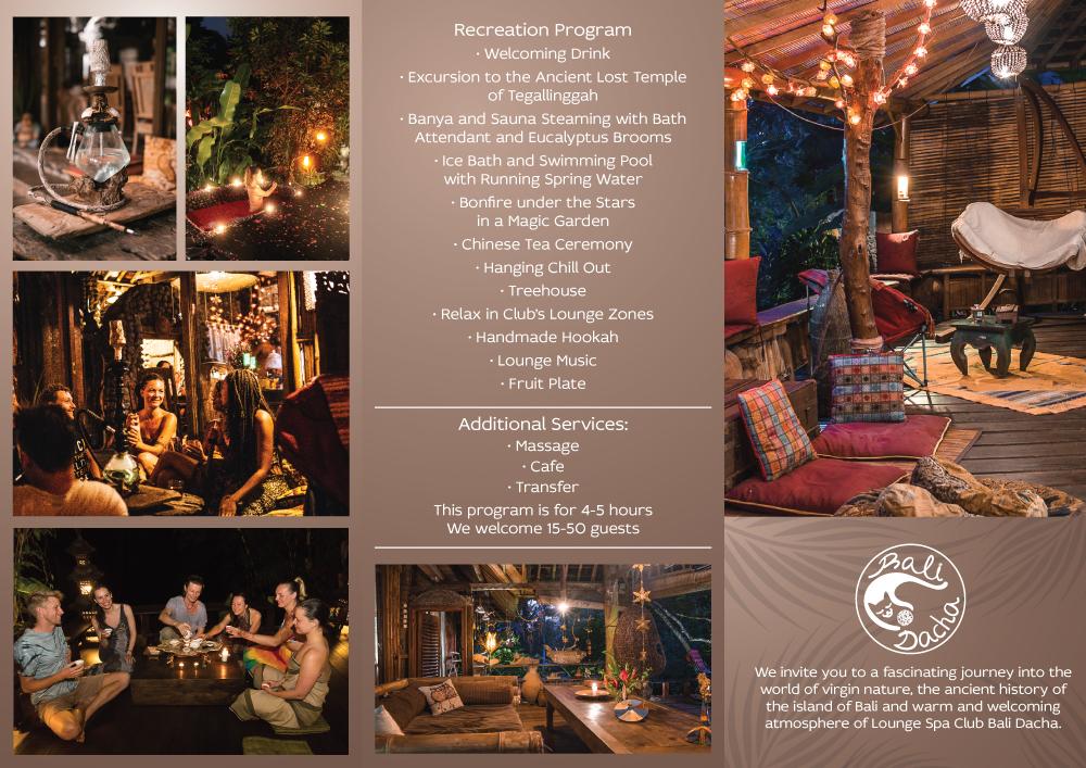 Bali Dacha Leaflet Front
