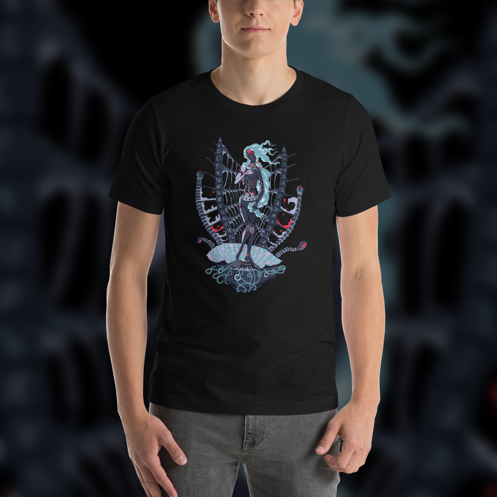 Cyber Venus Man's Psychedelic T-shirt