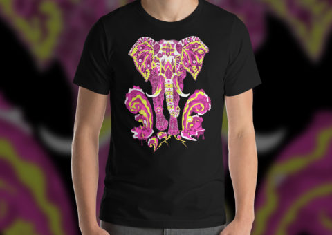 Hippie Elephant Man's T-shirt