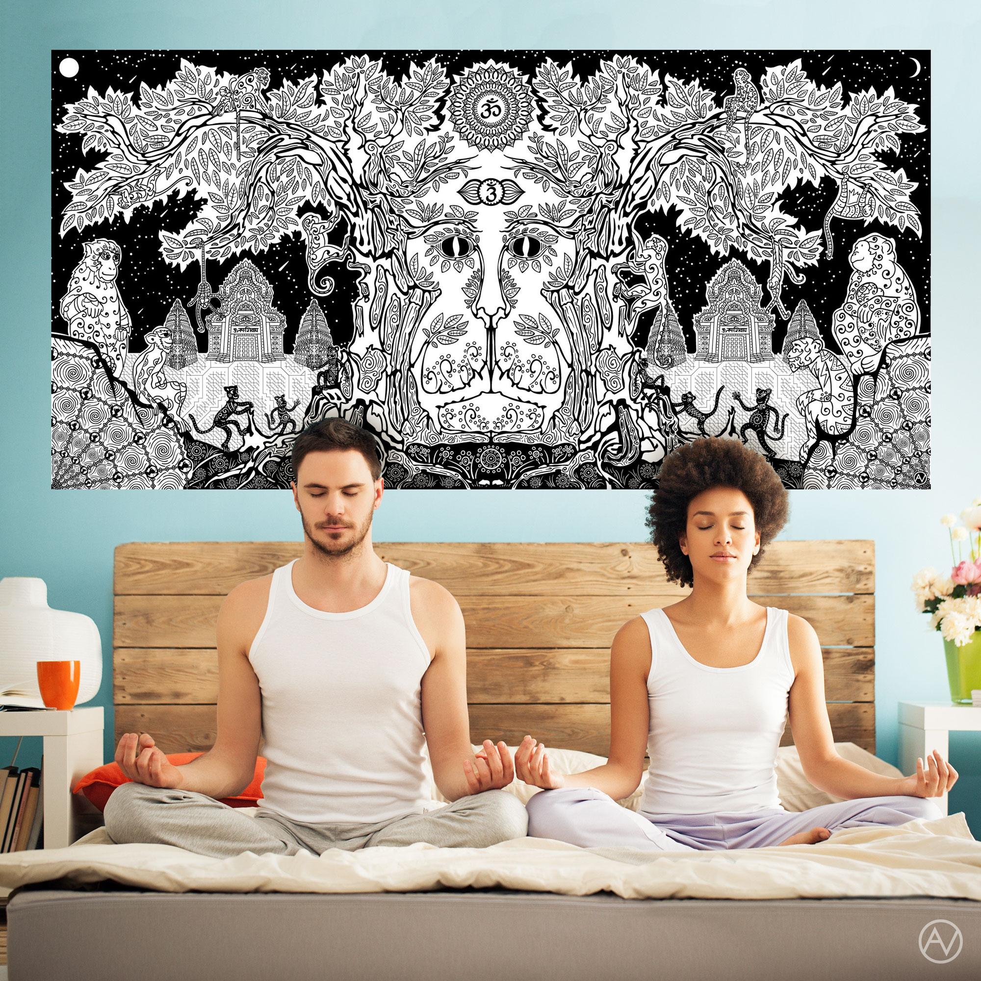 """Lord Hanuman Meditation Interior Preview"