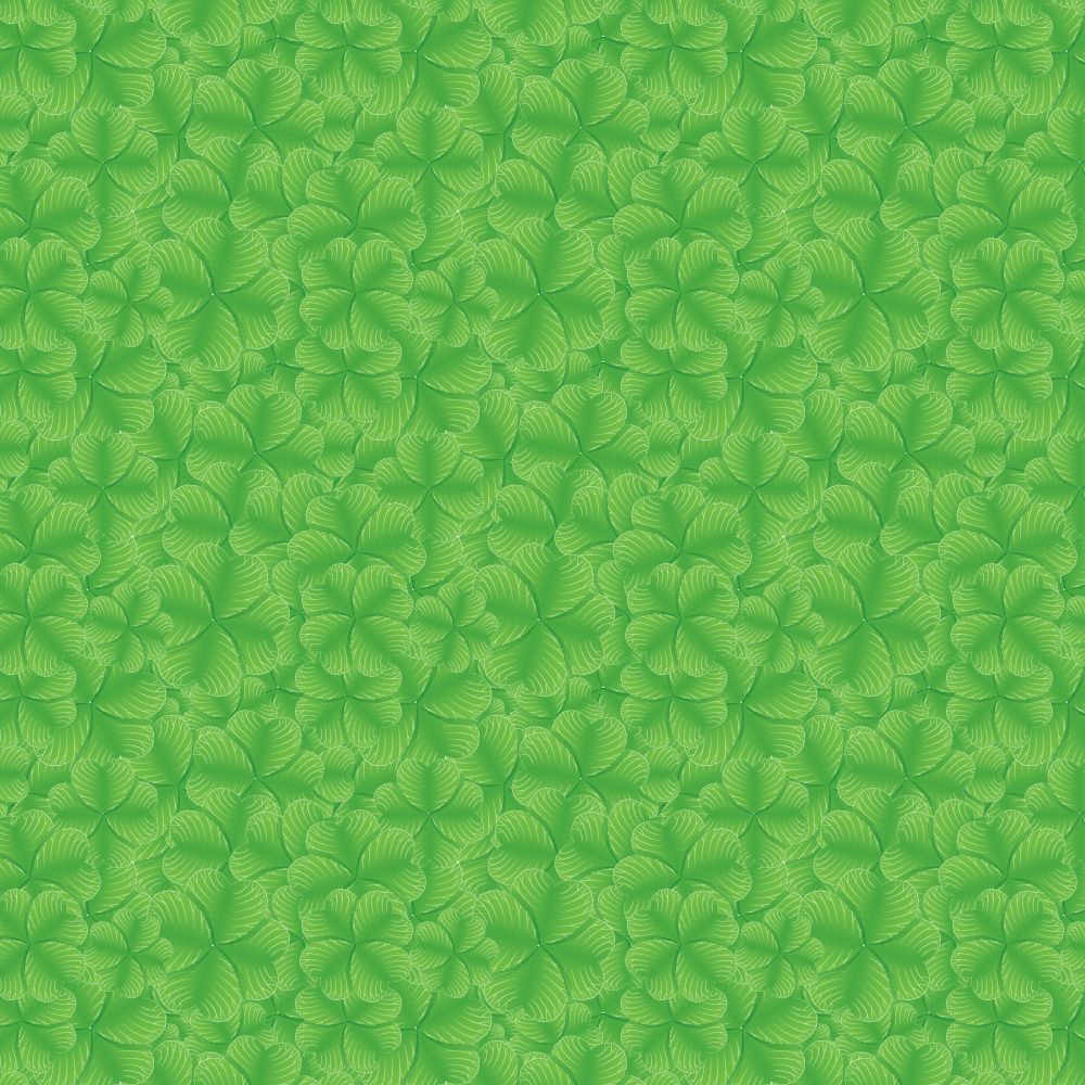 Free Saint Patrick's Day Clover vector pattern