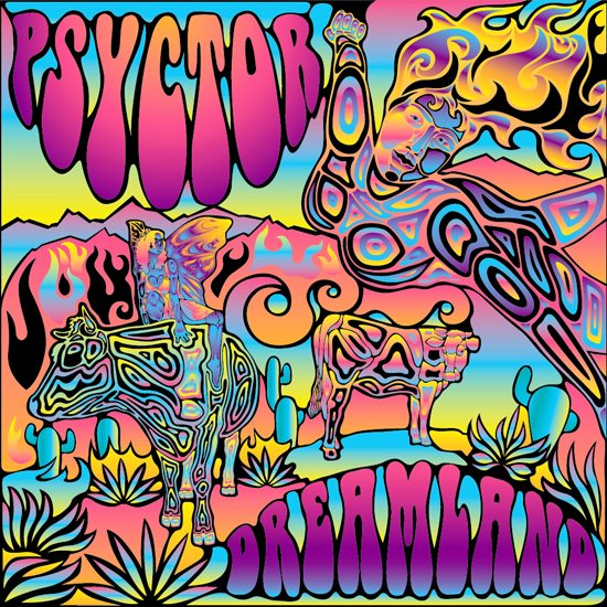 How to create a psychedelic vector music album cover in Abode Illustrator and Adobe Photoshop final image