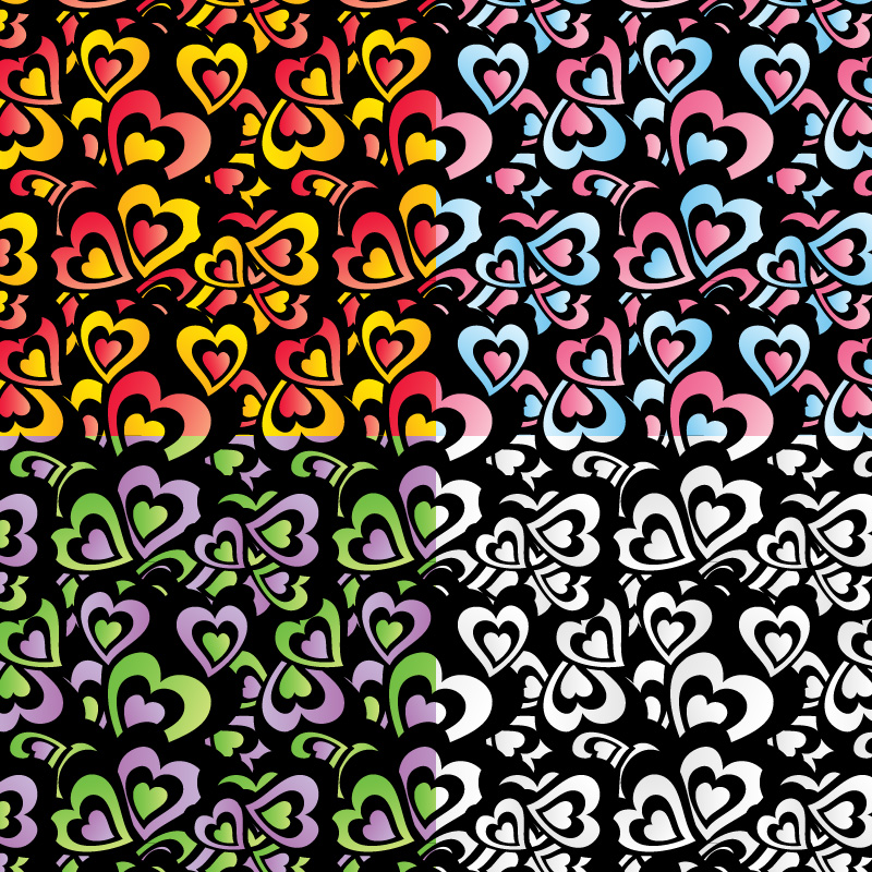 Free vector hearts pattern