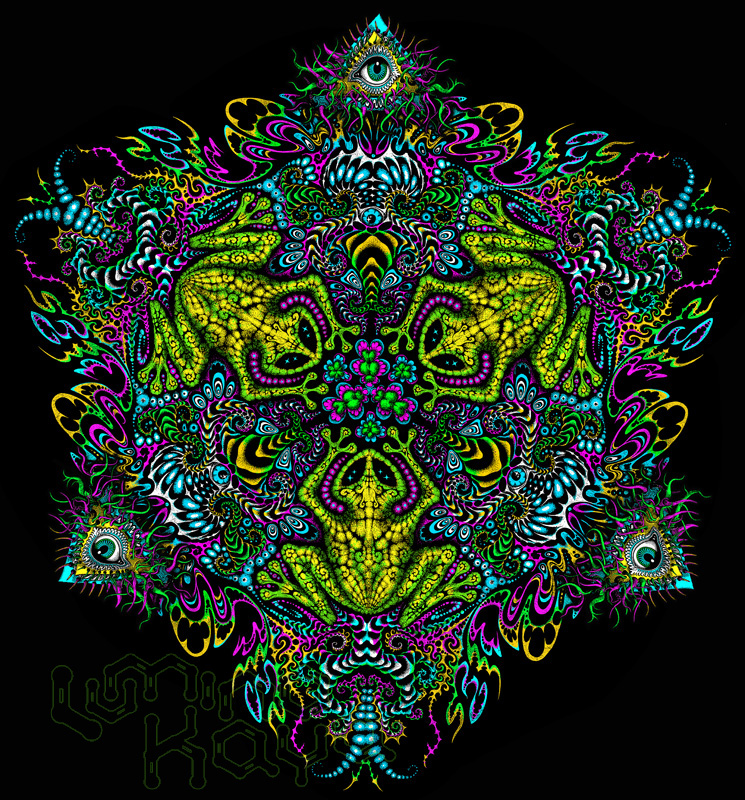 Amazing psychedelic art by Luminokaya lab