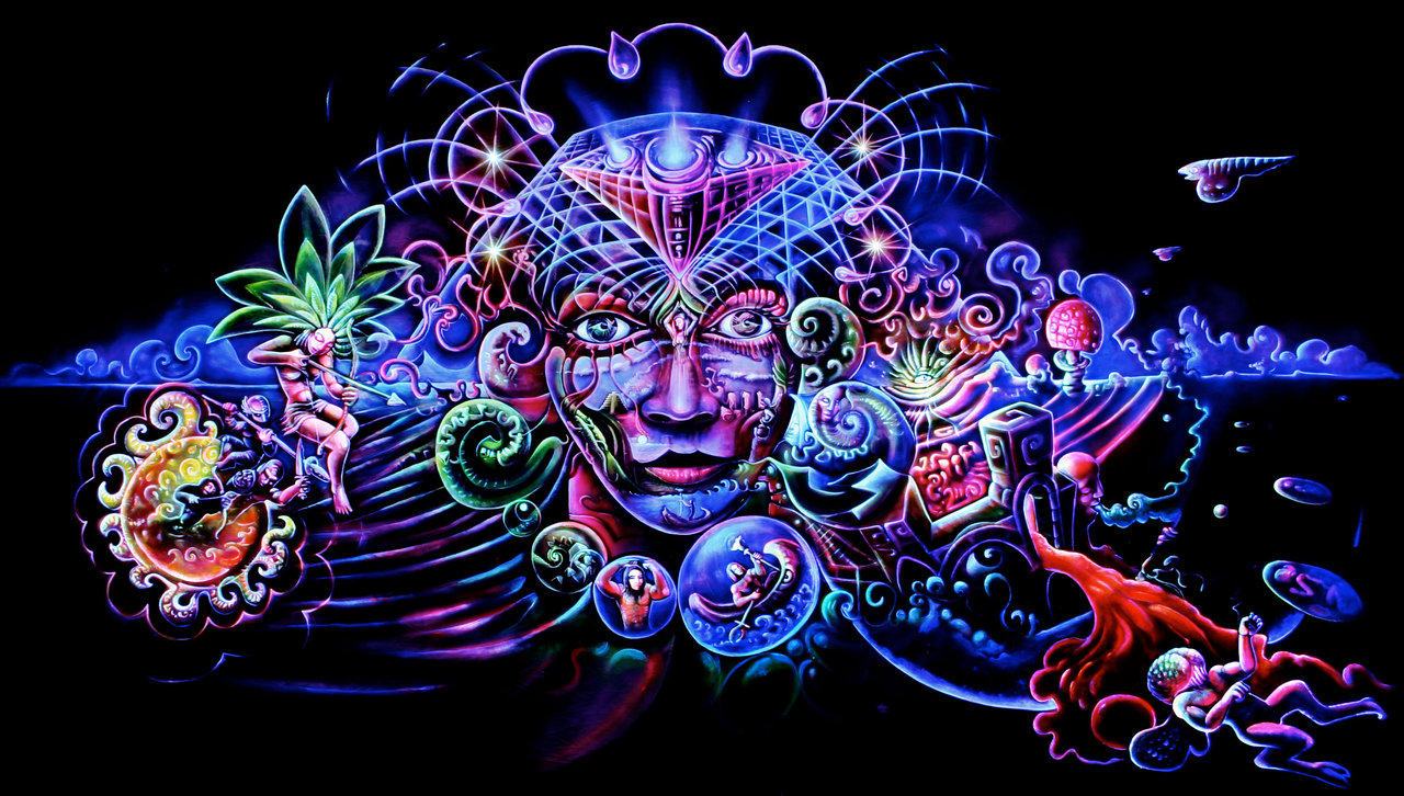 Psychedelic art of Jussi Löf - Gaia