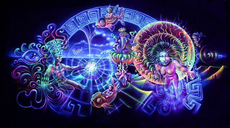 Psychedelic art of Jussi Löf - Higher consciousness