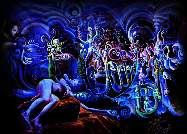 Psychedelic art of Jussi Löf - House of Horus