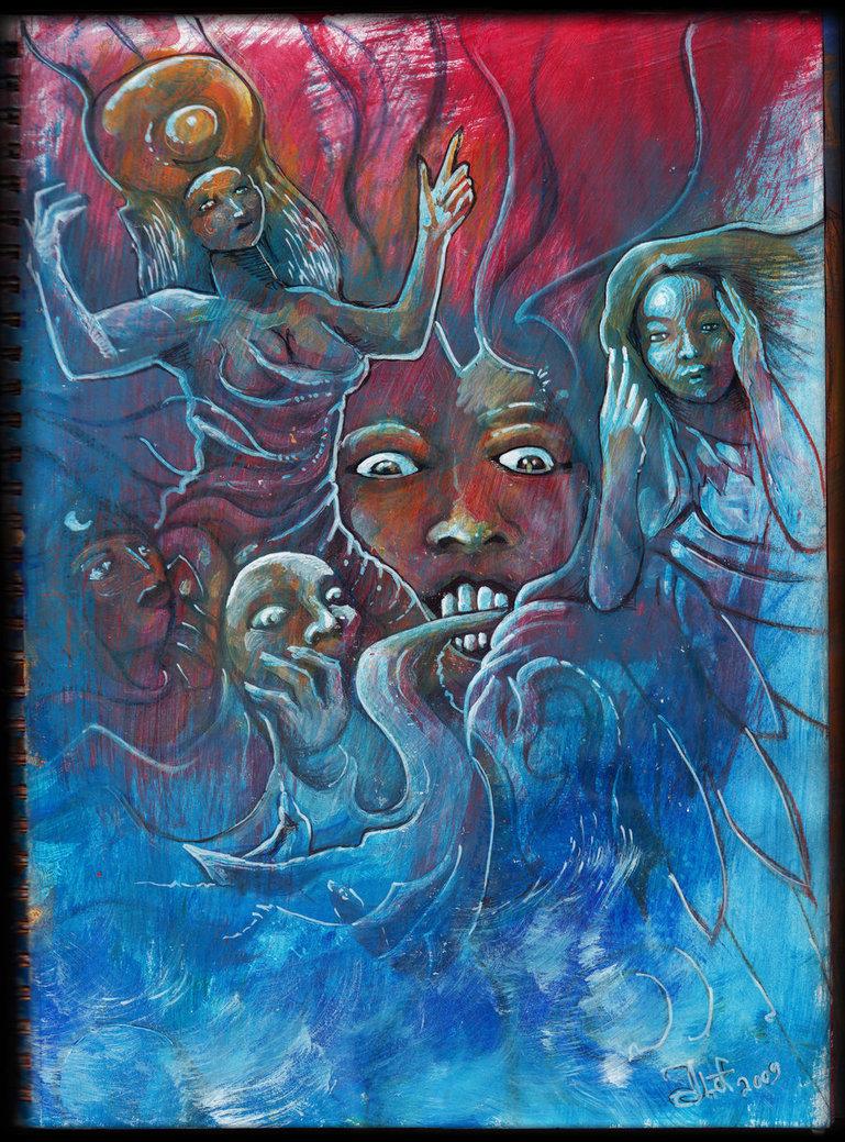 Psychedelic art of Jussi Löf - Ilmatar Kuutar