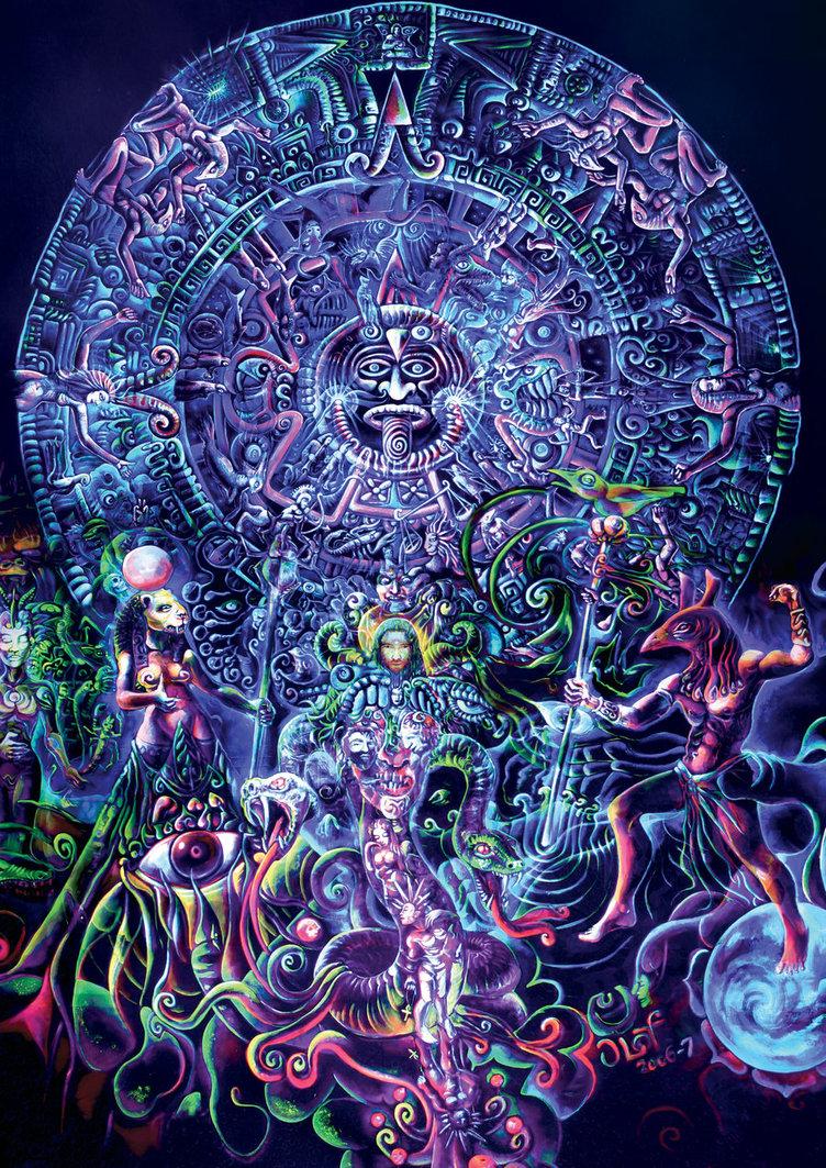 Psychedelic art of Jussi Löf - Psychedelic Mandala