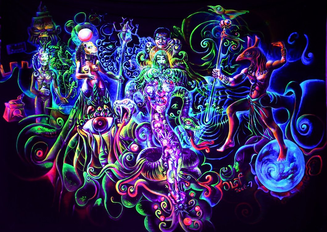 Psychedelic art of Jussi Löf - Vision of Sekmeth