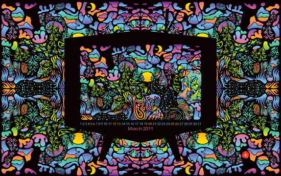 Free Wallpaper: Psychedelic Forest Television
