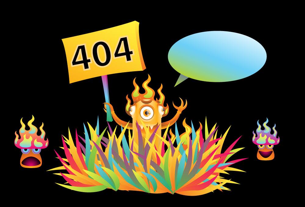 Monster 404 error page illustration