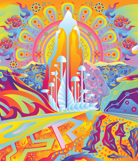 Zion future city free psychedelic wallpaper