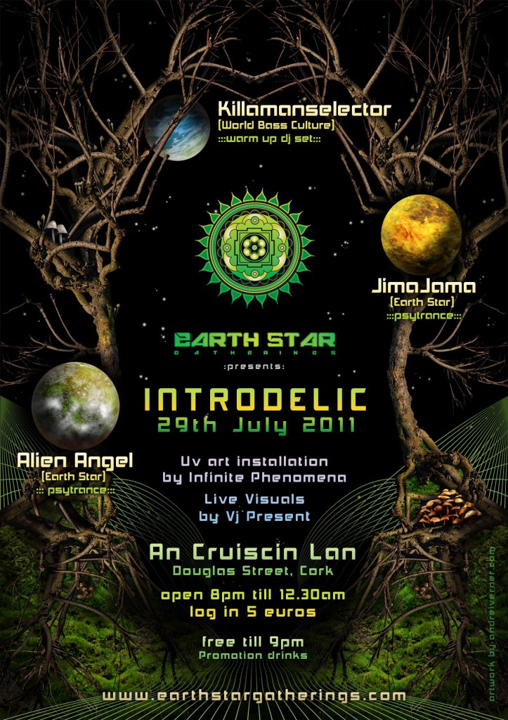 Introdelic Psytrance Party Poster