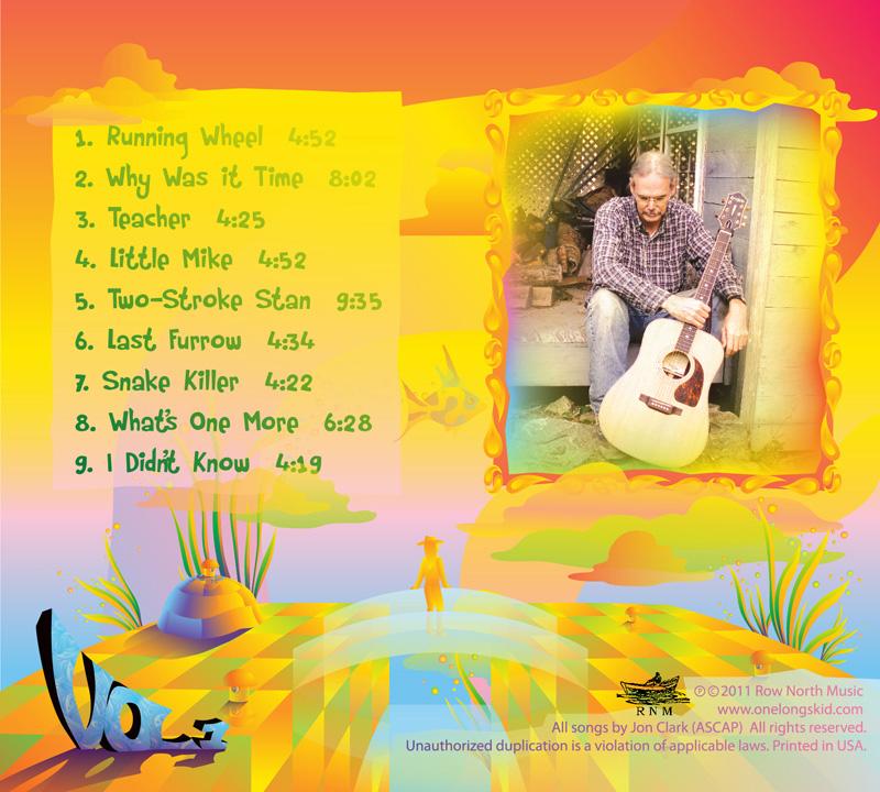 Jon Clark - One Long Skid Vol.1 - album cover design - back side