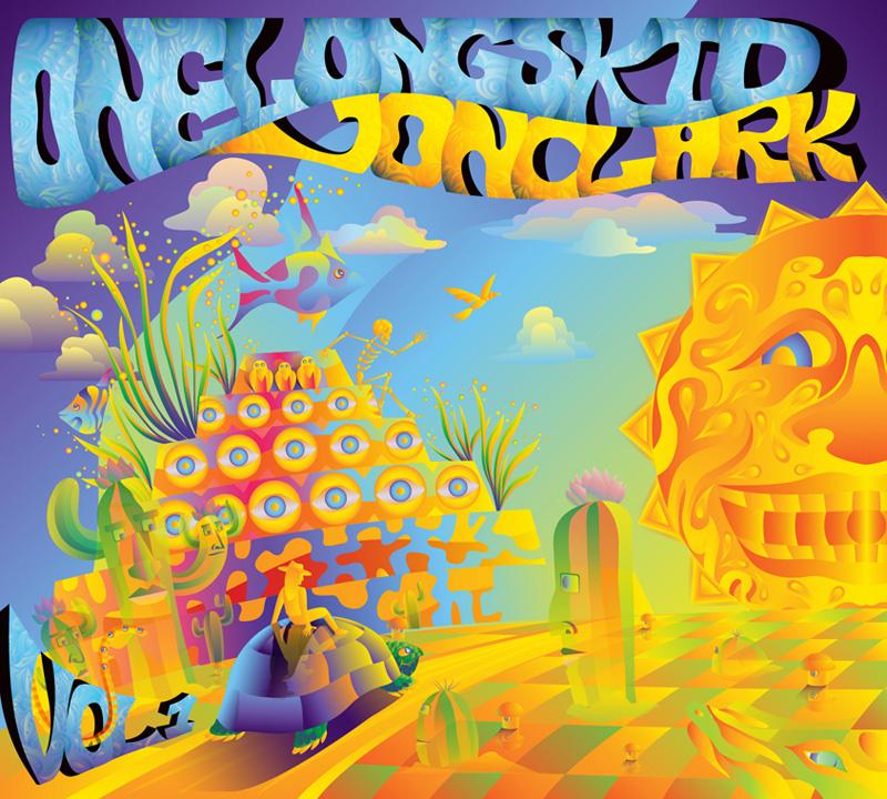 Jon Clark - One Long Skid Vol.1 - album cover design - front side
