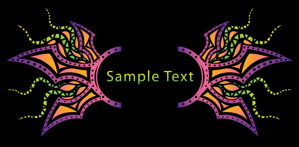 Free Psychedelic banner background elements