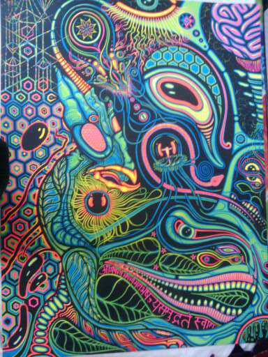 Untitled blacklight 3 by Syddartha
