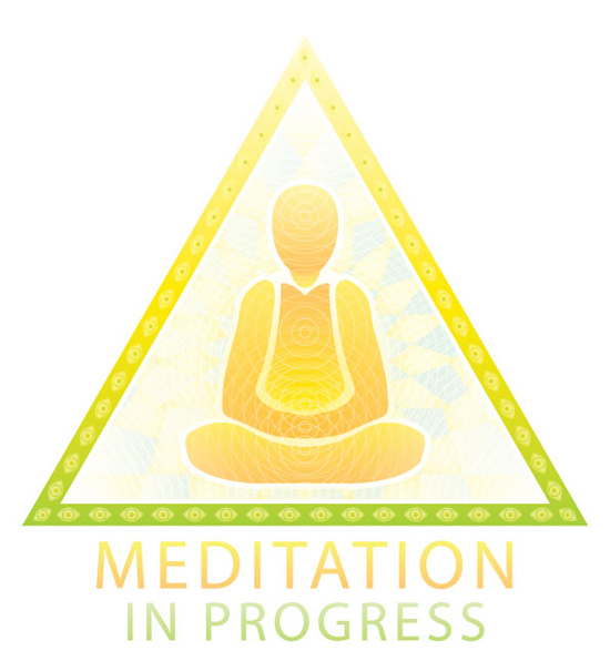Meditation in progress sign - yellow