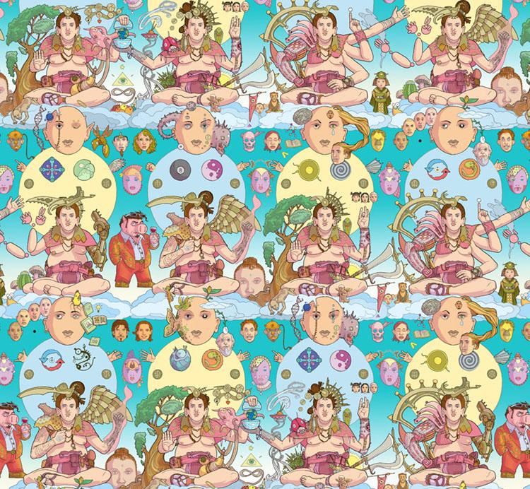 Psychedelic illustrations by Seth Fisher - Buddha