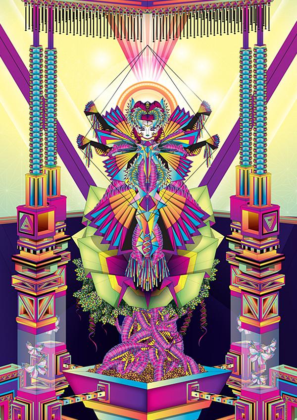 Vector psychedelic art of Amrei Hofstätter