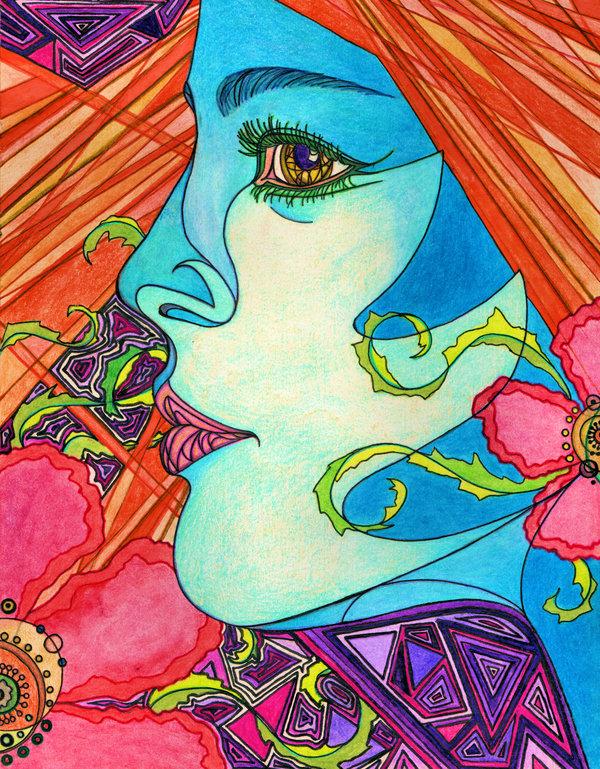 Psychedelic art of Laura Borealisis