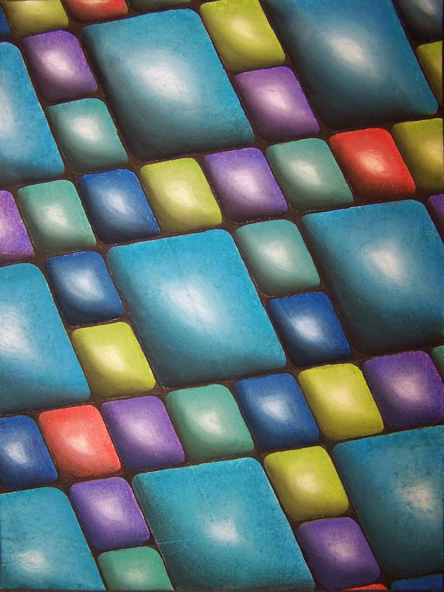 Harmony in blue - Colorful abstract art of Ashleigh McGarity