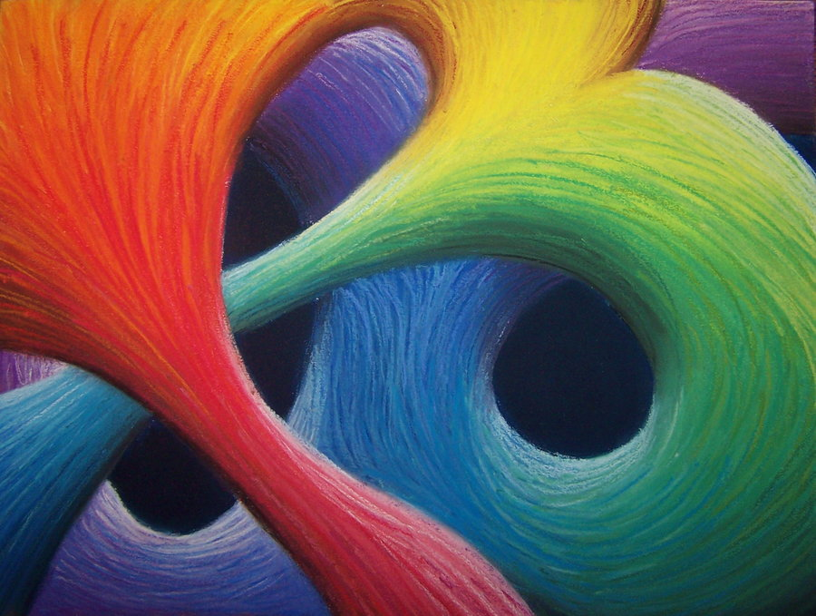 Sensitivity - Colorful abstract art of Ashleigh McGarity