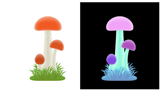 How to draw a mushroom in Adobe Illustrator tutorial image by Andrei Verner