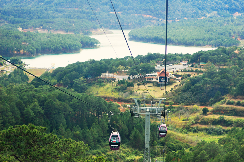 Cable car track near Da Lat, Vietnam