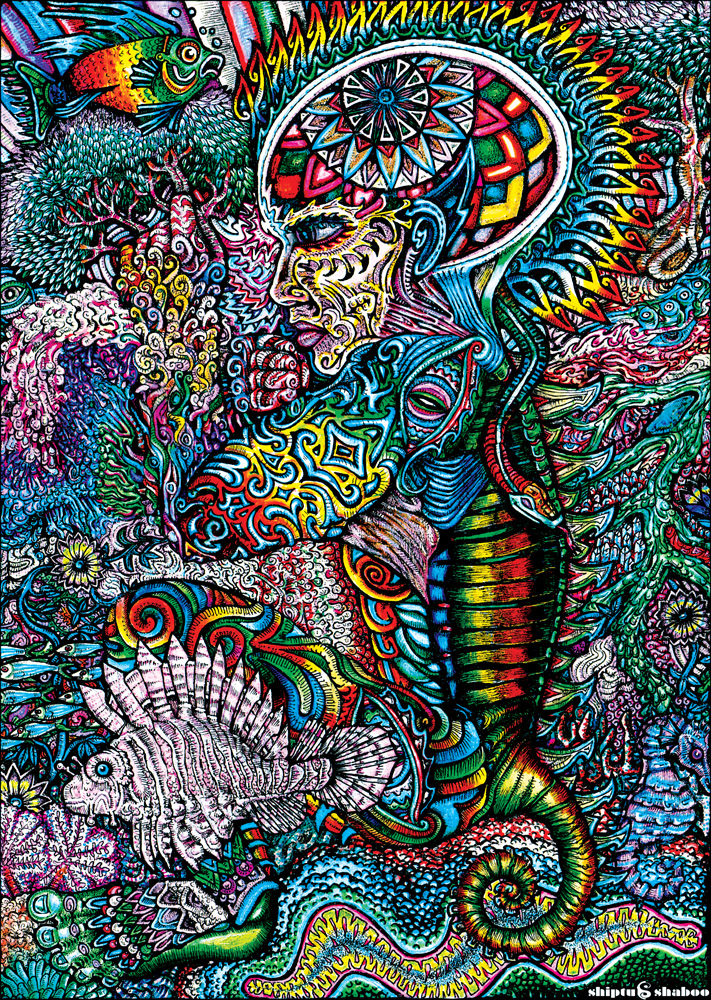 Psychedelic art by Shiptushaboo