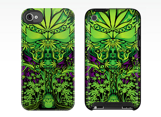 Marijuana love tree IPhone and IPod cases
