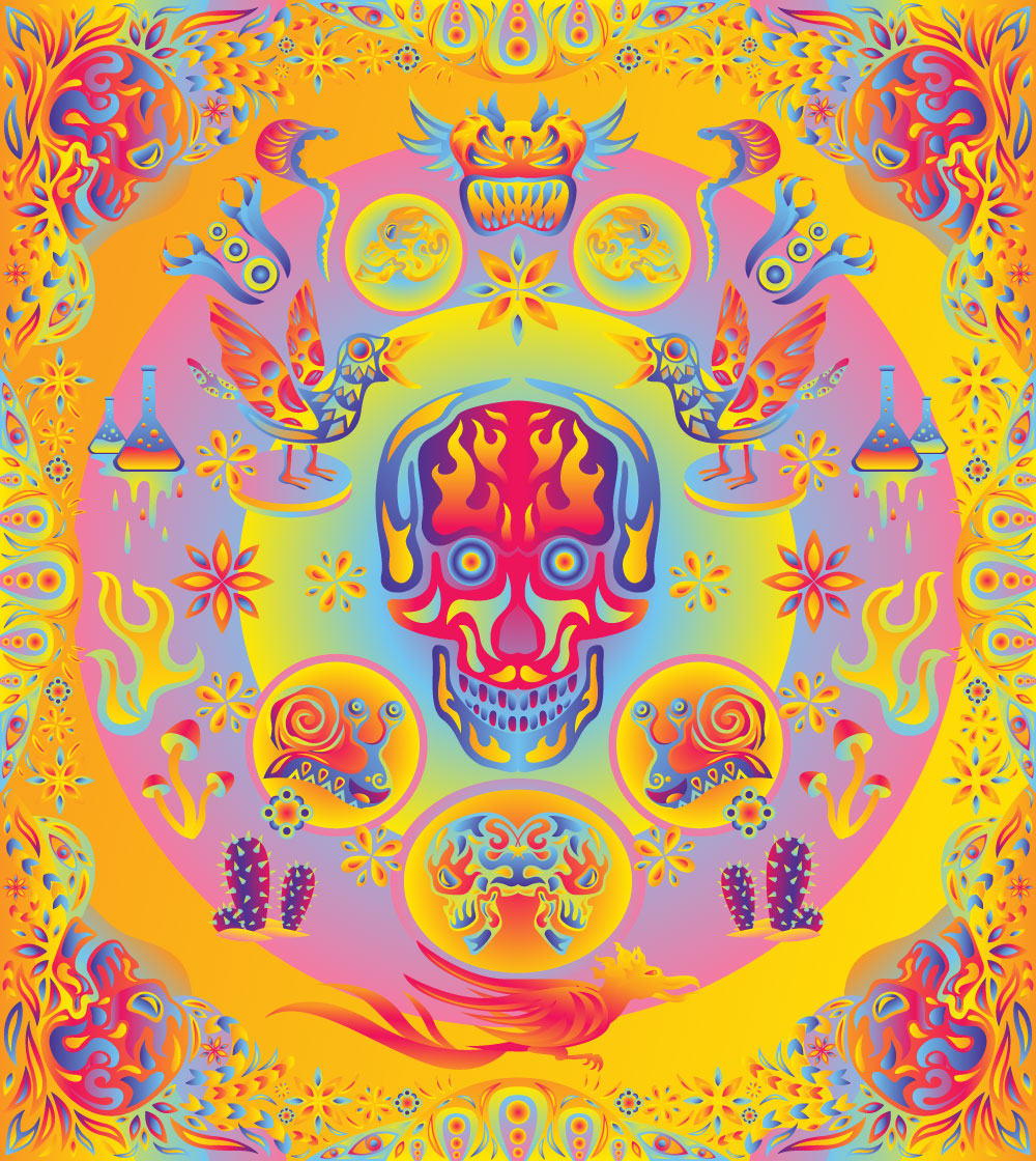 Psychedelic vector elements extended version