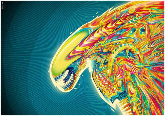 Psychedelic Art of Matei Apostolescu
