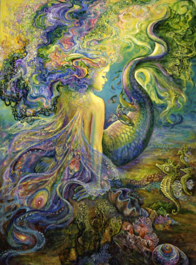 Mer fairy by Josephine Wall