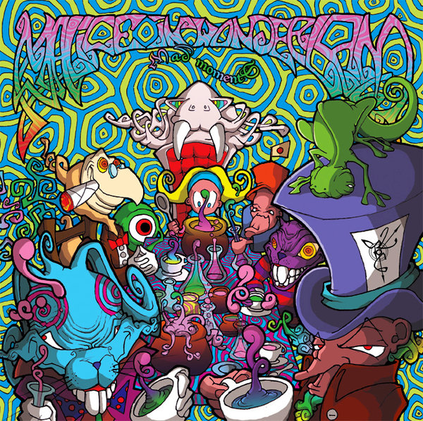 Malice in wonderland Psychedelic album cover by Ayalien