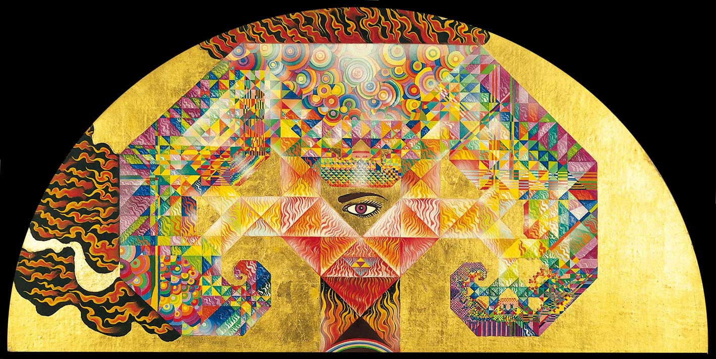 Conceptual-Tree - surreal and psychedelic painting by Mati Klarwein