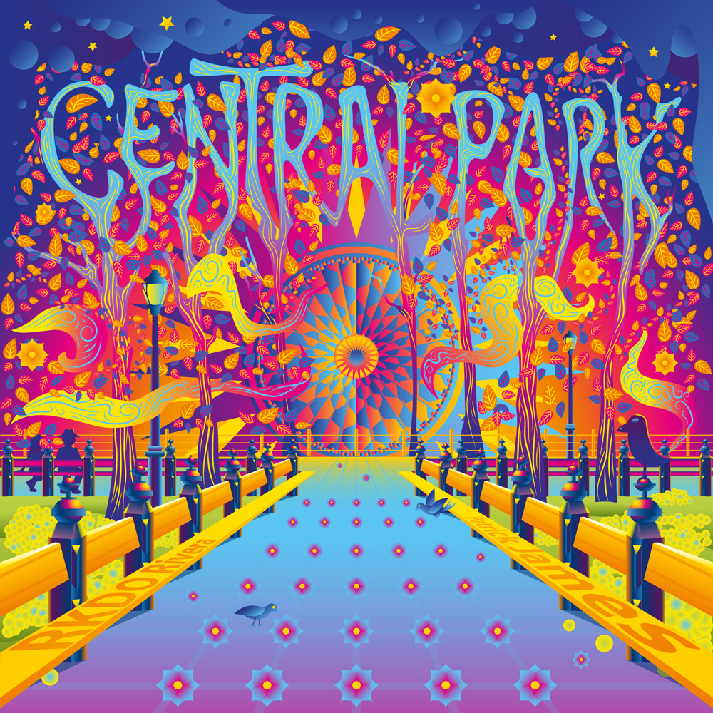 Central Park single psychedelic cover art by Andrei Verner
