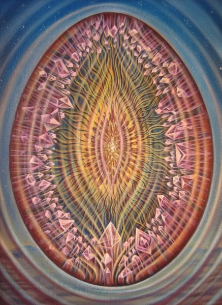 Vertex dawning - psychedelic painting by Amanda Sage